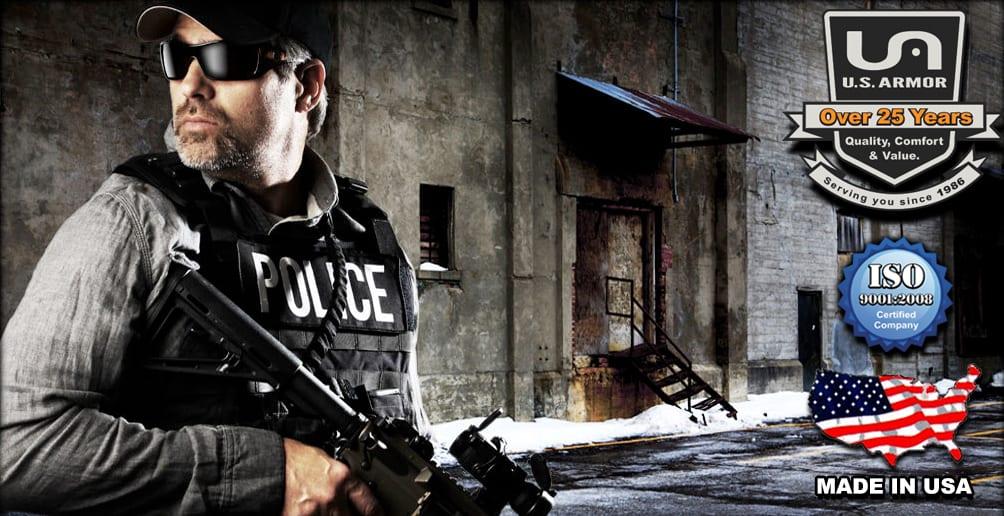 wearing police body armor
