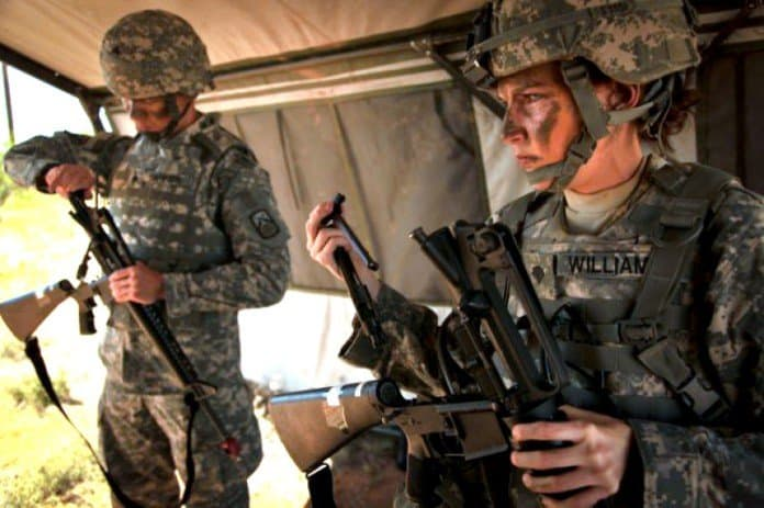 Body armor for female soldiers