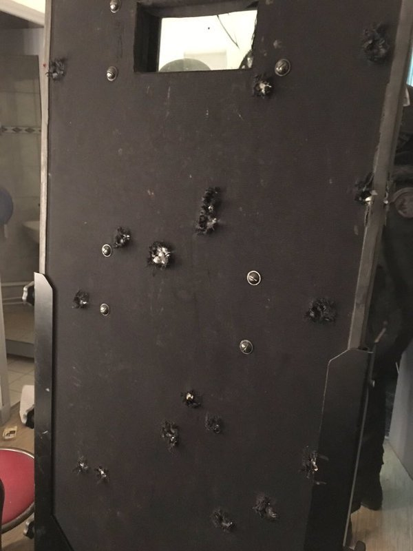 Ballistic Shield After Police Operation In Bataclan Theater