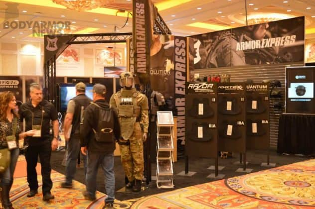 Armor Express booth SHOT show 2017