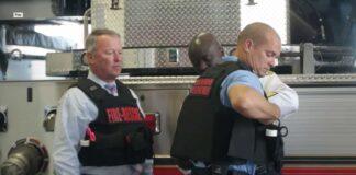 orlando firefighters wearing ballistic vests