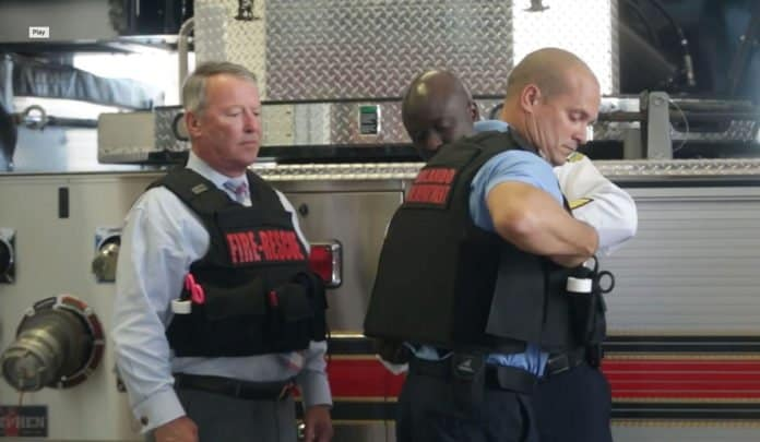 orlando firefighters wearing ballistic vests